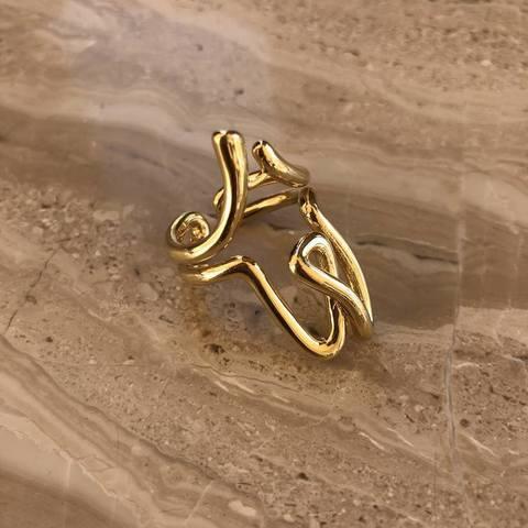 Кольцо Итана, позолота