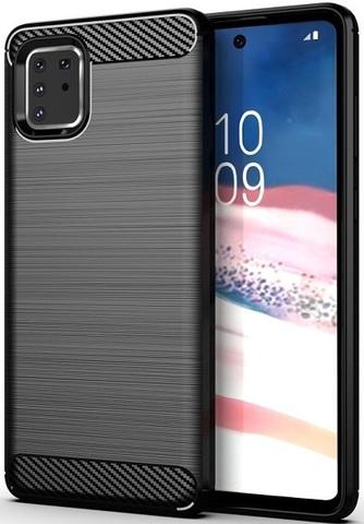 Чехол Samsung Galaxy A81 (M60S) цвет Black (черный), серия Carbon, Caseport