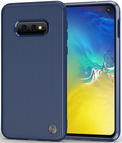 Чехол Samsung Galaxy S10e цвет Blue (синий), серия Bevel, Caseport