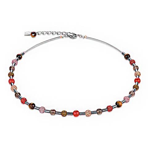 Колье Coeur de Lion 4901/10-0311 цвет мультиколор, красный, розовый, коричневый, бежевый