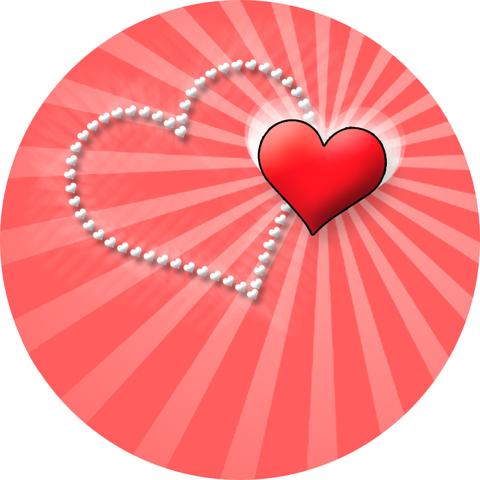 Печать на сахарной бумаге, День Влюбленных 2