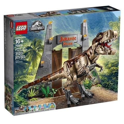 LEGO Jurassic World: Парк Юрского периода: ярость тираннозавра 75936 — Jurassic Park: T. rex Rampage — Лего Мир Юрского периода