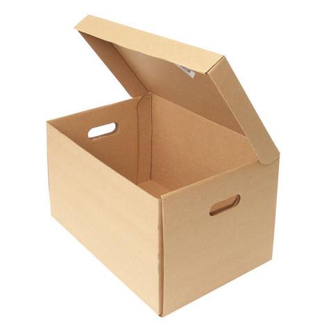 Короб архивный Т22 гофрокартон бежевый 480х325х295 мм (5 штук в упаковке)