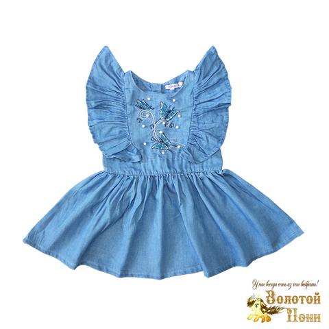 Платье джинсовое девочке (2-6) 200621-OP781П