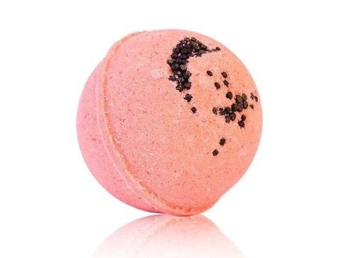 Гейзер макси-шар Клубничный Соблазн для ванн с морской солью и маслами d 9см, 280±15гр. TMChocoLatte