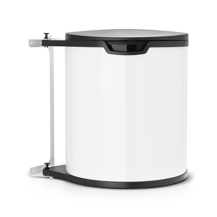 Встраиваемый мусорный бак (15 л), Белый, арт. 428081 - фото 1