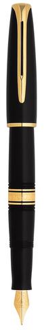 *Перьевая ручка Waterman Charleston, цвет: Black/GT, перо: F (13001 F)