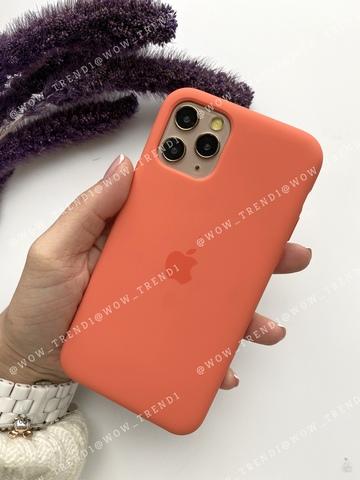 Чехол iPhone 11 Pro Silicone Case (orange) /clementine/ спелый клементин original quality