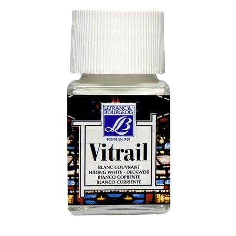 Краска по стеклу Lefranc&Bourgeois VETRAIL 50 мл 004, укрывистый белый