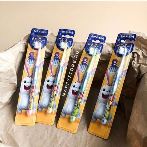 Зубная щетка детская Kodomo Soft & Slim (до 3 лет)