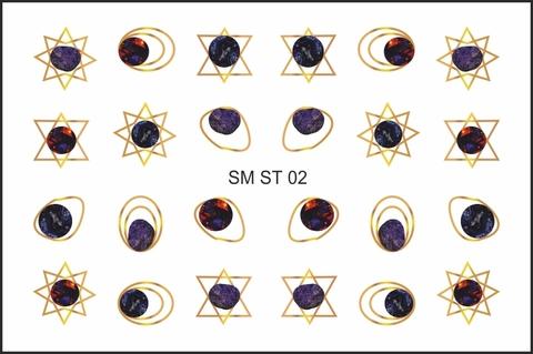 SM ST Металлизированный стикер №02