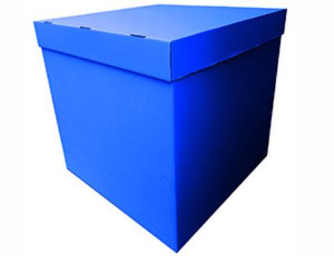 Коробка для шаров с персональным оформлением синяя