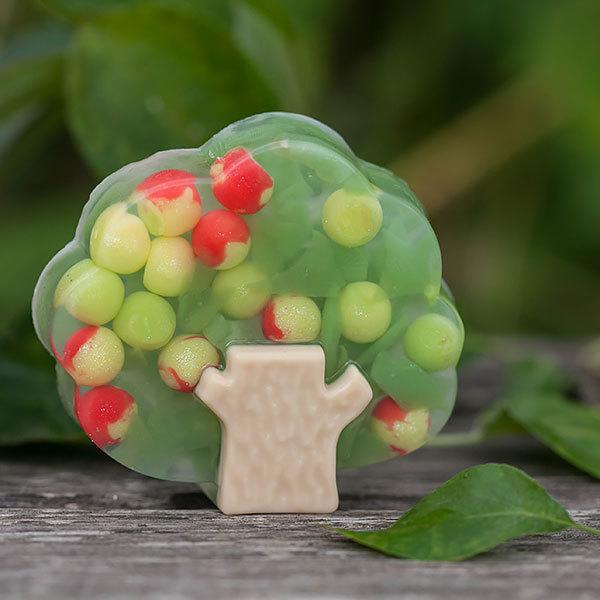Пластиковая форма для мыла Дерево. Готовое мыло