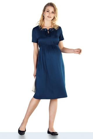 Платье для беременных 10211 синий