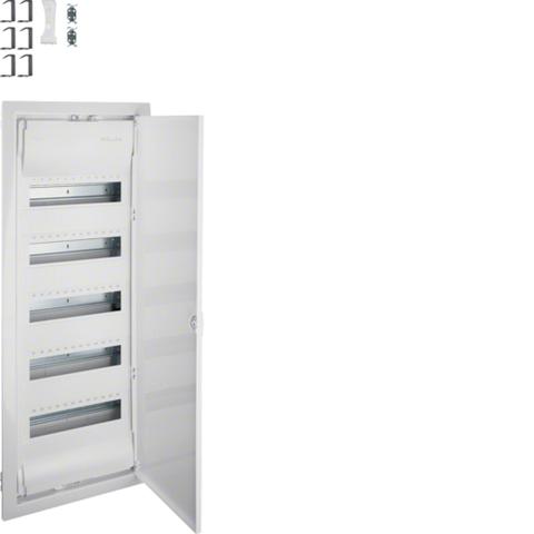 Щит встраиваемый для сплошных стен, Volta, 5x12M, глубина уст. 90мм, IP30, RAL9010