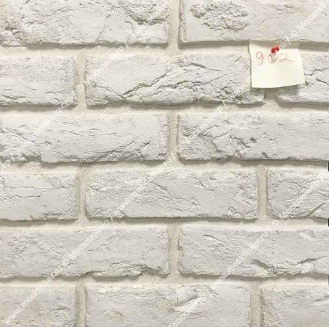 Клинкервиль 902, цвет белый - Искусственная плитка под покраску для имитации кирпичной кладки