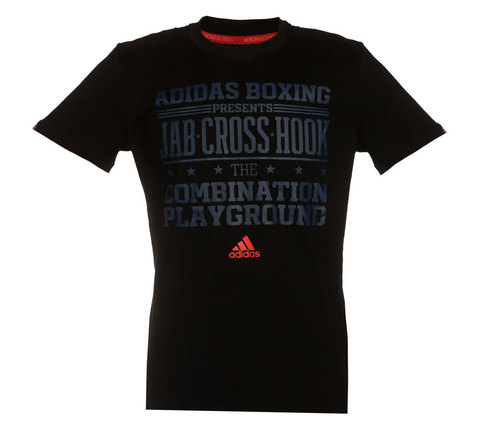 Футболка Graphic Tee Slogan Boxing черно-красная