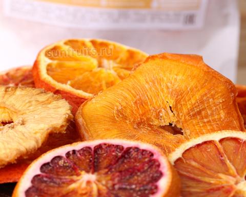 апельсиновые чипсы и сушёная хурма колечками