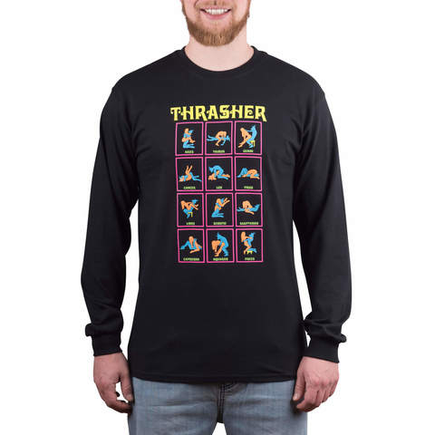 Лонгслив THRASHER Black Light (Black)