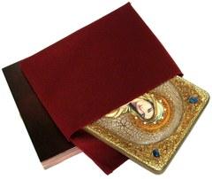 Инкрустированная икона Святая Равноапостольная Мария Магдалина 29х21см на натуральном дереве в подарочной коробке