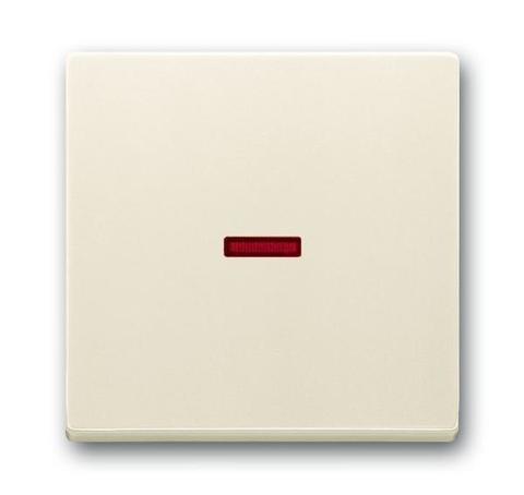 Клавиша одноклавишного выключателя/переключателя/кнопки с красной линзой. Цвет Слоновая кость. ABB (АББ). 1751-0-2813