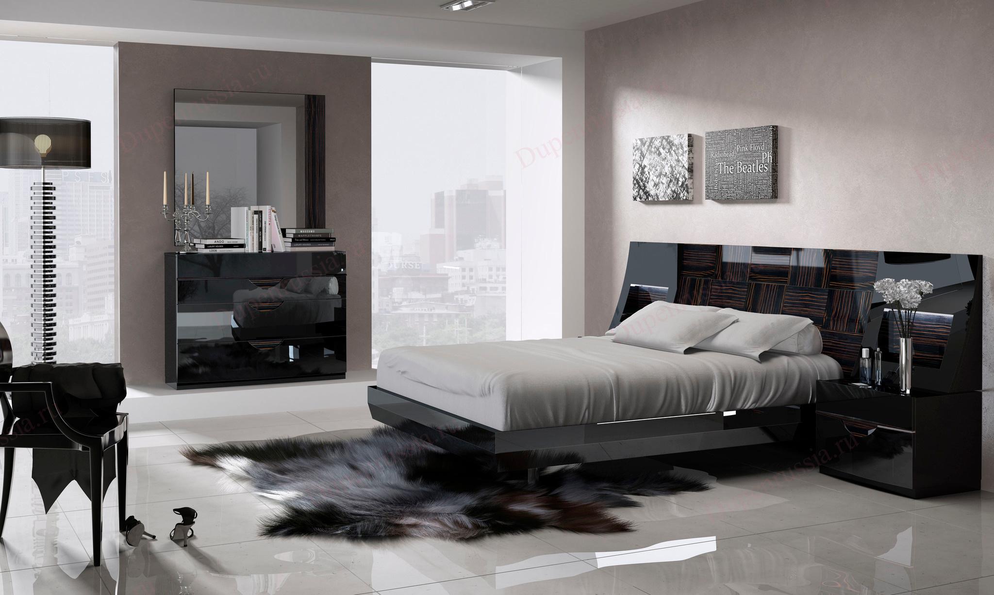 Спальня FENICIA 505 MARBELLA черная
