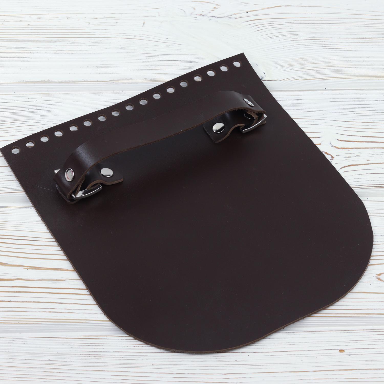 """Вся фурнитура Клапан для сумочки с ручкой кожаный """"Темно-коричневый"""" IMG_5838.jpg"""