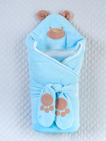 Зимний конверт-одеяло Little Bear голубой