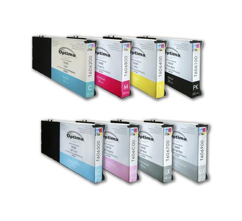 Комплект из 8 картриджей Optima для Epson 4000/7600/9600 8x220 мл