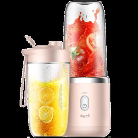 Беспроводная соковыжималка-блендер Xiaomi Deerma Mini Juice Blender (Розовый)