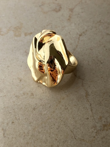 Кольцо Флоу, позолота