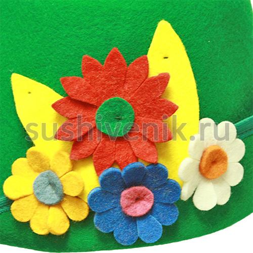 Фетровая женская шапка