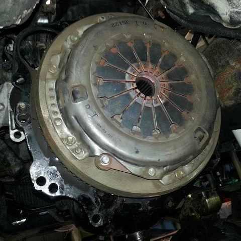 Замена сцепления Nissan NP300
