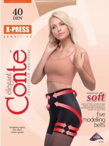 Conte X-Press Колготки женские 40d, p.2 bronz