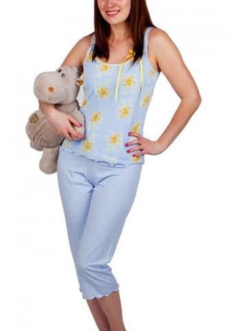 Нежная пижама с топом и бриджами