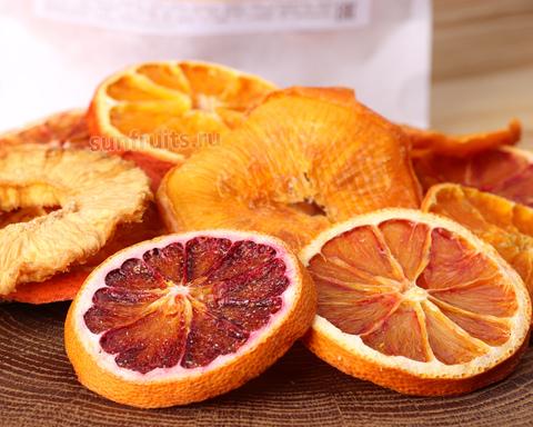 полезный перекус из апельсиновых чипсов без сахара
