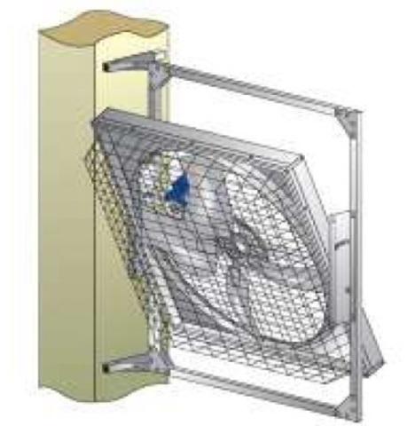 MFS52   Набор для крепления вентилятора на  стене  или  на колонне