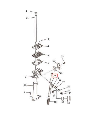 Румпель  для лодочного мотора T2,5 SEA-PRO (7-20)