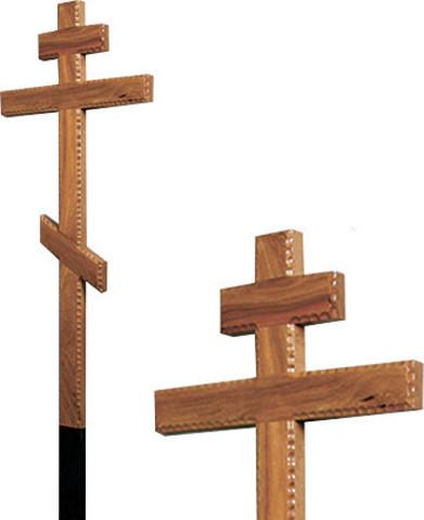 Крест дубовый резной 9 см без надписи