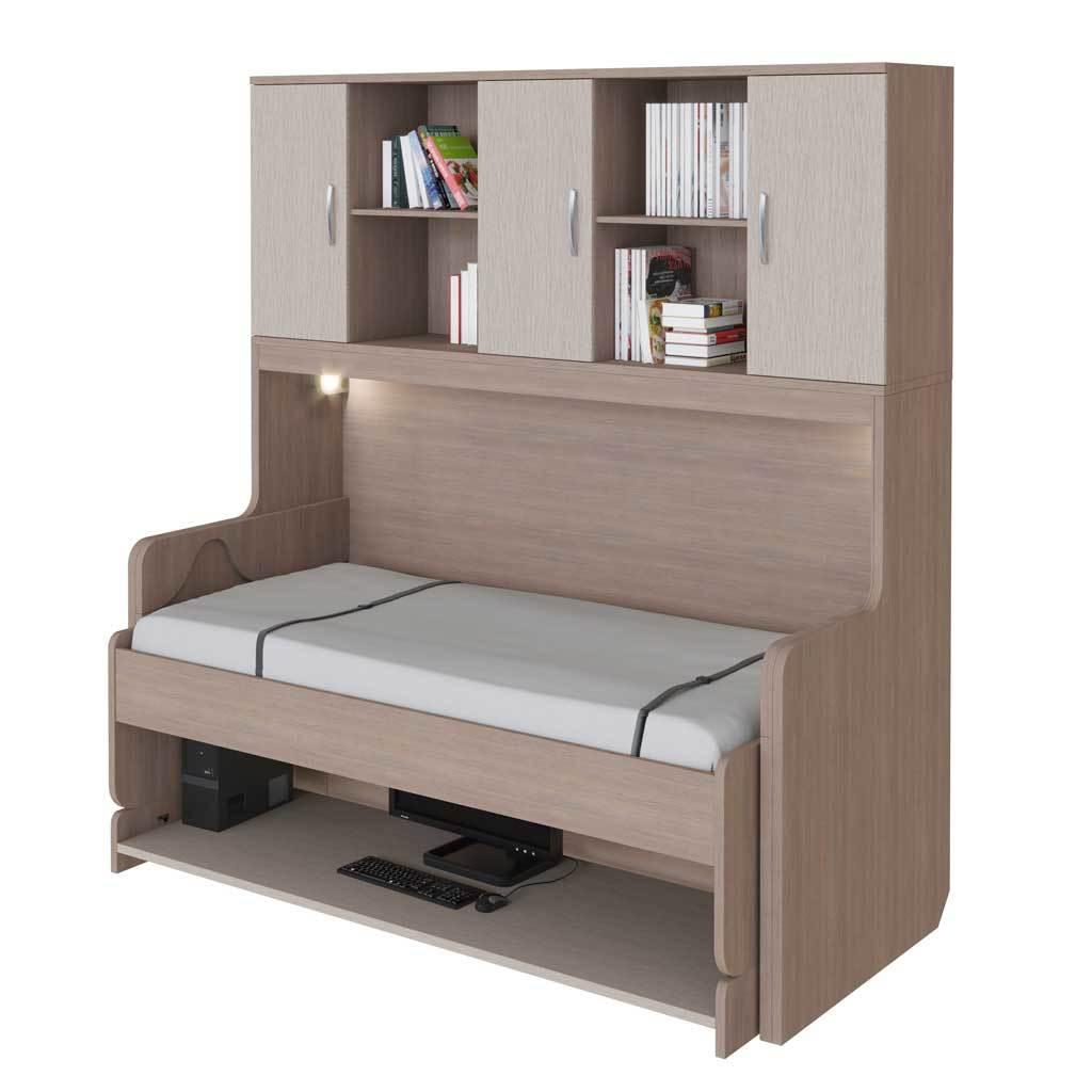 Стол-кровать трансформер односпальная 90 см со шкафом