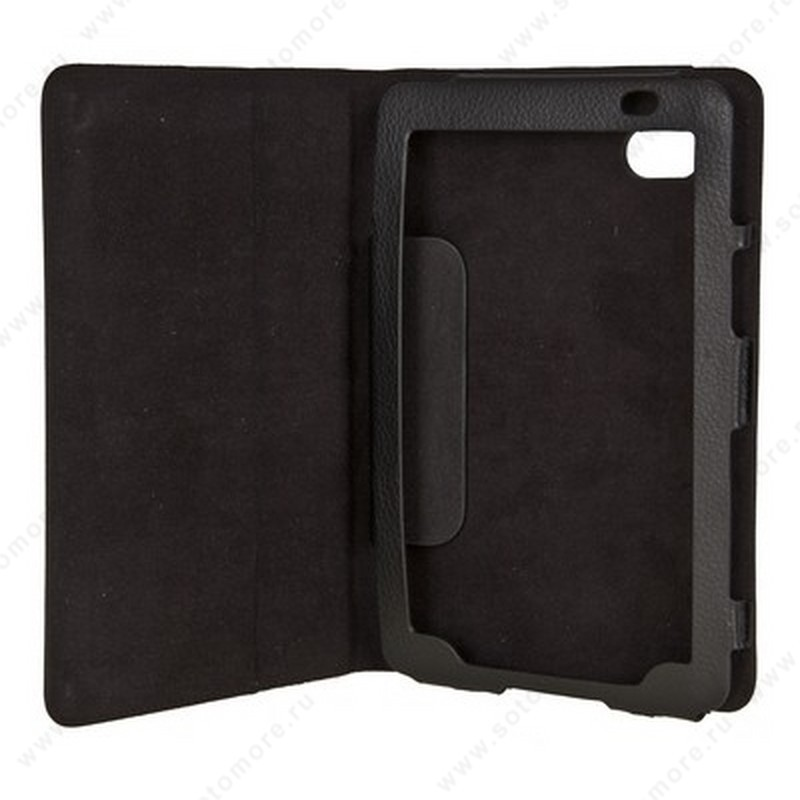 Чехол-книжка для Samsung Galaxy Tab P1000 черная книжка-подставка