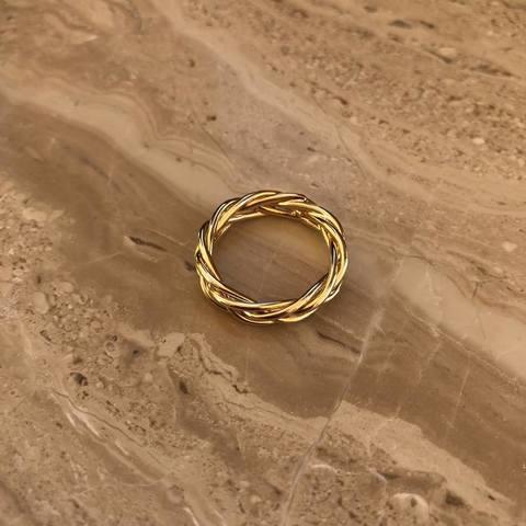 Кольцо Колос, позолота