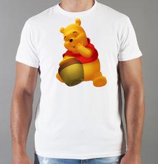 Футболка с принтом мультфильма Винни-Пух (Winnie the Pooh) белая 005