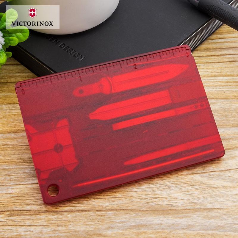 Швейцарская карта Victorinox SwissCard Quattro Red (0.7200.T) красная полупрозрачная - Wenger-Victorinox.Ru