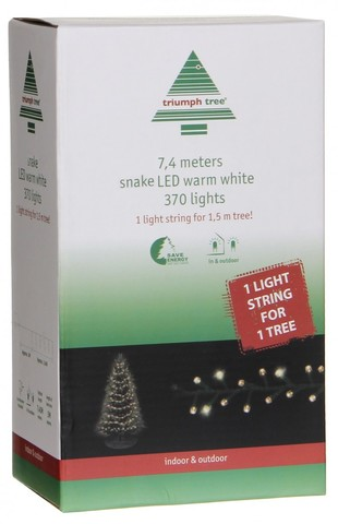Гирлянда Triumph Tree теплый свет (370 ламп, длина гирлянды 740 см) для елки 155 см