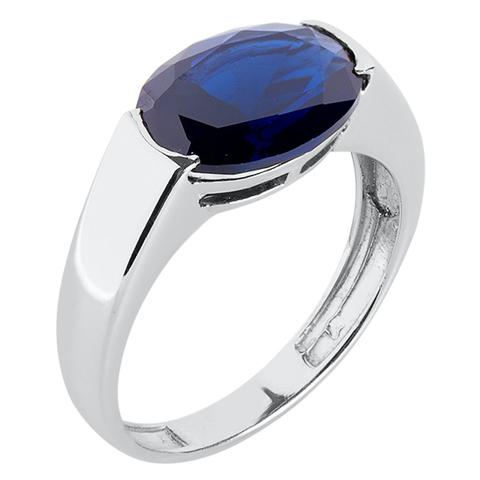 Кольцо из серебра с корунд сапфиром Арт.1137кс
