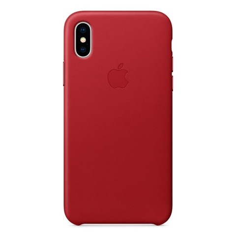 Чехол iPhone X/XS Leather Case /red/