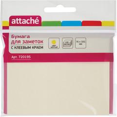 Стикеры Attache 76х101 мм пастельные желтые (1 блок, 100 листов)