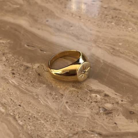Кольцо Коламба, позолота