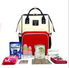 Mommy Bag. Сумка-рюкзак для мамы, красный/белый/синий вид 2